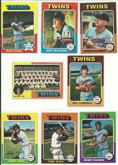1975 Vintage Topps TWINS 22 cards team NM-MT set KILLEBREW CAREW BLYLEVEN Oliva  #MinnesotaTwins