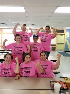 """Breast Cancer Picked a fight with the wrong CHICK!""  @ Moon Lake Elementary"