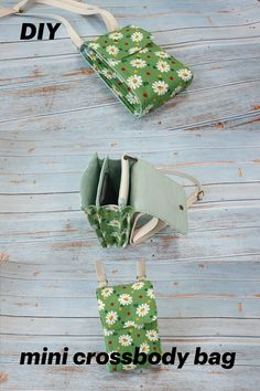 Sewing Projects For Beginners, Sewing Tutorials, Diy Phone Bag, Bag Patterns To Sew, Sewing Patterns, Diy Purse, Mini Crossbody Bag, Shopping Bags, Diy Shirt