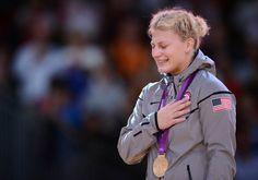 Kayla Harrison, the first U.S. gold medal winner in judo.