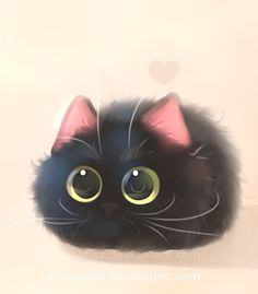 Drawn black cat kitty - pin to your gallery. Explore what was found for the drawn black cat kitty I Love Cats, Crazy Cats, Cute Cats, Funny Cats, Animals And Pets, Baby Animals, Cute Animals, Funny Animals, Gatos Cats
