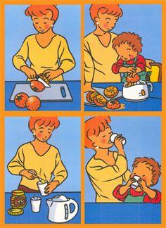 stappenplan kleuterklas - Google zoeken Picture Story Writing, Picture Story For Kids, Picture Writing Prompts, Picture Books, Sequencing Worksheets, Sequencing Cards, Story Sequencing, Speech Language Therapy, Speech And Language