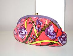 Vintage EMILIO PUCCI Clutch Floral Velvet Leather by StatedStyle