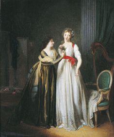 Jean Simon FOURNIER (Paris, XVIIIème siècle) Deux amies, 1788, huile sur toile. Inv : RO 17. Non exposée. © Musée des Augustins, Toulouse, photographie Daniel MARTIN.