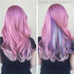 pastel+pink+hair+with+blue+and+lavender+underlayer