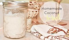 Homemade Coconut Scrub