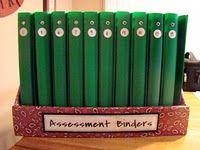 Assessment Binders & great organization ideas!