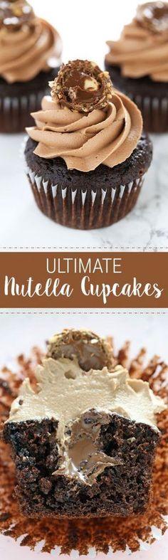 Ultimate Nutella Cupcakes