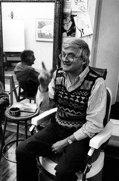 David Hockney, Bedford, Massachussets, 1984. Photo by Lucien Clergue, °