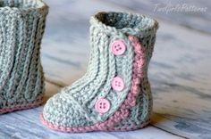 Baby Knitting Patterns Booties Crochet Pattern 112 Baby Wrap Boot Instant by TwoGirlsPatterns Crochet Baby Boots, Crochet Slippers, Baby Patterns, Baby Knitting Patterns, Crochet Patterns, Baby Booties, Baby Shoes, Baby Wraps, Crochet For Kids