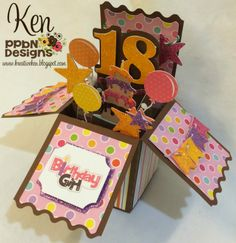 Ken's Kreations : 18 BIRTHDAY CARD IN A BOX