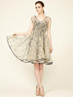 Anagram by Gary Graham Silk Organza Taffeta Dress