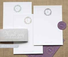 Monogram personalized stationery printable. Amazing site with free printables including beautiful paper flowers