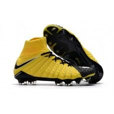 new concept 8330b e54ef Fashion Nike Hypervenom Phantom III DF FG Soccer Cleats -  Black White Yellow Phantom