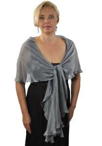 FREE SHIPPING FOR USA!!!!! Silver Grey Silk Scarf--Silk iridescent chiffon. Silver Grey color.