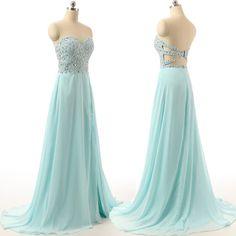 long prom dress,charming Prom Dress,blue prom dress, prom dress,party dress