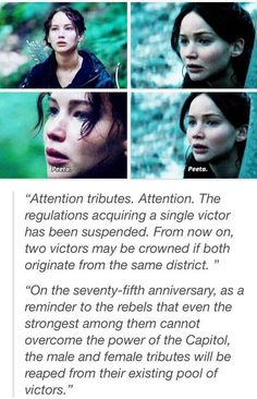 The hunger games - catching fire. ~feels :'(
