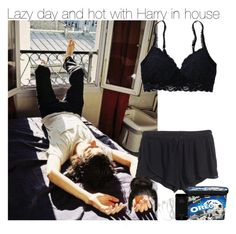 """""""Lazy day and hot with Harry in house"""" by directioner-fashion-453 ❤ liked on Polyvore featuring H&M and Aerie"""
