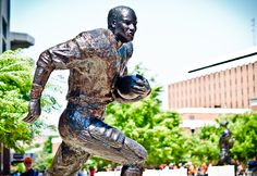Auburn Heisman Trophy winner Bo Jackson's statue was unveiled at A-Day in April 2012