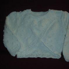 Gilet de baptême blanc tricoté à la main 24 mois