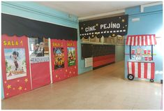Y UN POCO MÁS... Deco Cinema, Movie Theater, Handicraft, Ideas Para, Toy Chest, Activities For Kids, Preschool, Teaching, Education