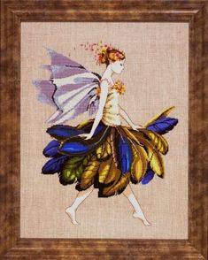 Feather Fairy cross stitch pattern from Mirabilia Designs available at NeedleartsGallery.com - still one of my most favorite Mirabilia Designs