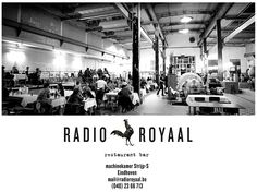 Restaurant radio royaal. Enjoy your drinks and/or meal @ an old engine room.