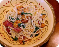 Butternut Squash and Spinach Carbonara by kae71463, via Flickr