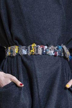 Rag belt multicoloured / Daniela Gregis at Milan Fashion Week Fall 2017 - Details Runway Photos