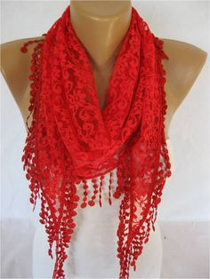 ONE+SALE++Lace+scarf+women+scarves++guipure+++by+MebaDesign,+$13.90