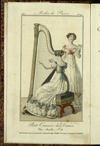 Petit Courrier des Dames : annonces des modes, des nouveautés et des arts del 5 de Enero de 1822
