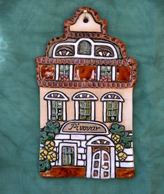 Pivovar Polymer Clay, Cement, Facades, Little Cottages, Blue Prints, Fimo, African Masks, African, Drawings