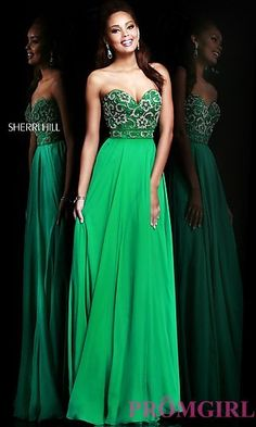 Prom Dresses, Celebrity Dresses, Sexy Evening Gowns - PromGirl: Long Strapless Sweetheart Sherri Hill Dress
