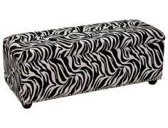 She's sure to love this zebra print ottoman with storage for her bedroom!