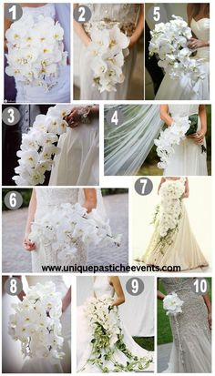 10 White Orchid Wedding Bouquet Ideas/ and the only way to do a cascading bouquet