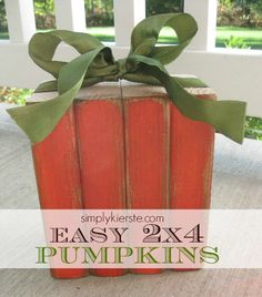 This one's on my to-do list for this fall. I love this easy 2x4 pumpkin from Simply Kierste!