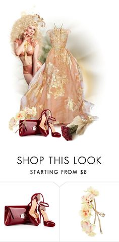"""Peach Colored Gowns or Dresses"" by kari-c ❤ liked on Polyvore featuring Elie Saab, Charlotte Russe and John Hardy"
