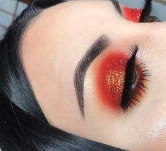 Burnt orange makeup