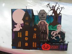 Haunted House and graveyard card