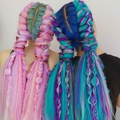 Pretty Hairstyles, Braided Hairstyles, Rave Hair, Curly Hair Styles, Natural Hair Styles, Pretty Hair Color, Synthetic Hair Extensions, Festival Hair, Hair Creations