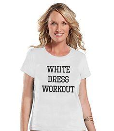 7 ate 9 Apparel Women's White Dress Workout T-shirt