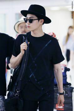 150713: EXO Suho (Kim Joonmyun); Tokyo Airport to Gimpo Airport #exok #fashion #style