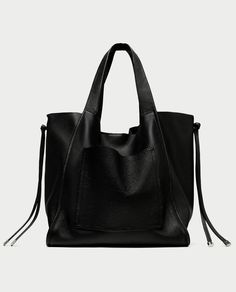 LEATHER TOTE from Zara