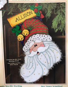Dimensions SANTA SPARKLE Stocking Needlepoint Christmas Kit 9133 Open  | eBay