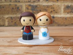 Spiderman and bride wedding cake topper by Genefy Playground https://www.facebook.com/genefyplayground
