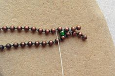 Use Ball Chain a New Way: Move to the Next Space in the Ball Chain and Weave More Beads
