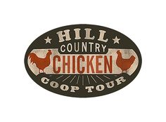 LOVE the Hill Country Chicken Coop Tour Logo, designed by DapperPaper on Etsy. These guys design amazing stuff, like logos, wedding invites, and Christmas cards. Chicken Logo, Chicken Art, Chicken Coops, Chicken Ideas, Urban Chickens, Chickens And Roosters, Custom Logo Design, Custom Logos, Hill Country Chicken