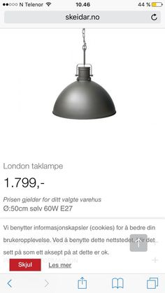 FINN – London taklampe