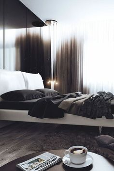 Charlie 'Minimal Interior Design Inspiration' is a biweekly showcase of some of the most perfectly minimal interior design examples that we've found around Stylish Bachelor Pad Bedroom Ideas For Men bachelor pad bedrooms Luxury Bedroom Sets, Stylish Bedroom, Luxurious Bedrooms, Bedroom Color Schemes, Bedroom Colors, Bedroom Ideas, Design Bedroom, Colour Schemes, Bachelor Pad Bedroom