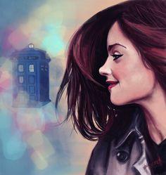 [Doctor who] clara oswin oswald (jenna-louise coleman) - clara oswald by margaw Doctor Who Fan Art, Doctor Who Clara, Doctor Who Gifts, Clara Oswald, Serie Doctor, Doctor Who Companions, Don't Blink, Jenna Coleman, Geronimo